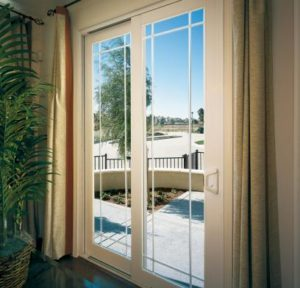 Vinyl sliding doors with blinds homestar windows doors sandy ut tuscany french rail sliding glass door planetlyrics Gallery