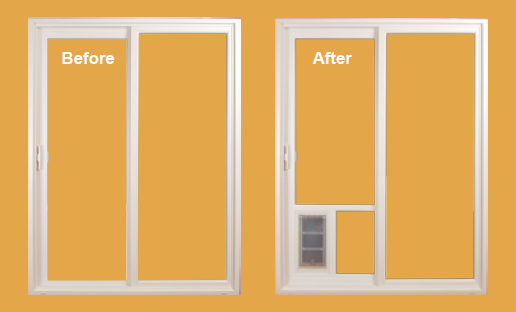 The Pet Patio Door Can Be Installed Into Your Vinyl Sliding Patio Door Or  HomeStar Can Install The Panel Into A New Milgard Tuscany Vinyl Sliding Door .